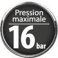 Pression maximale 16 bar