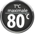 Température maximale 80°C
